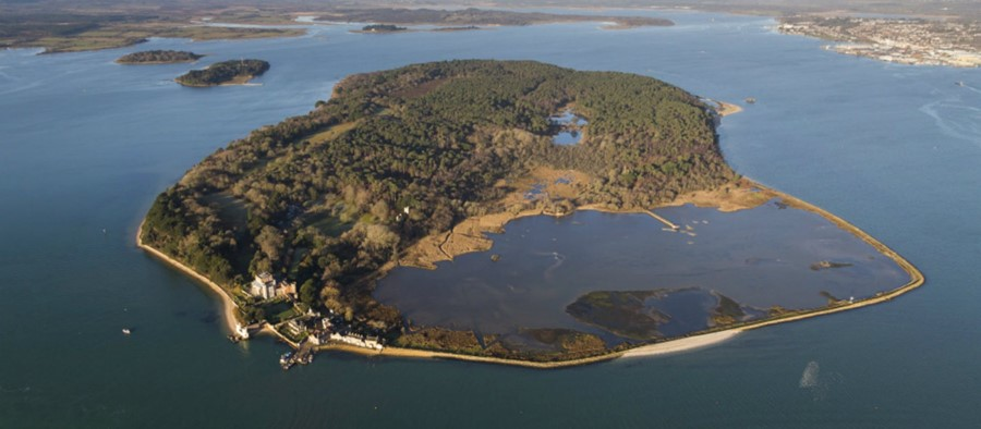 Brownsea Island from the air.